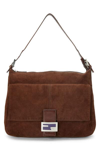 Brown Suede Shoulder Bag