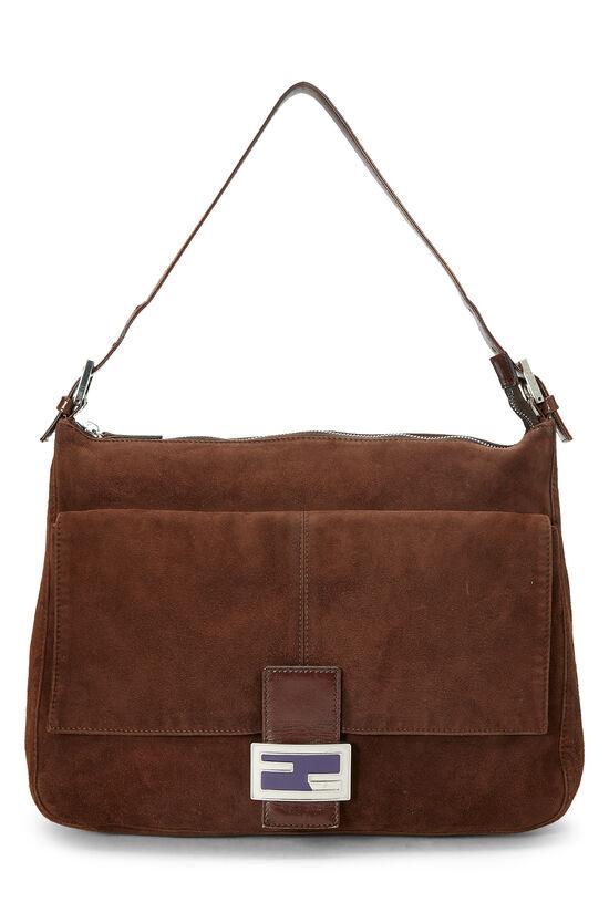 Brown Suede Shoulder Bag, , large image number 0