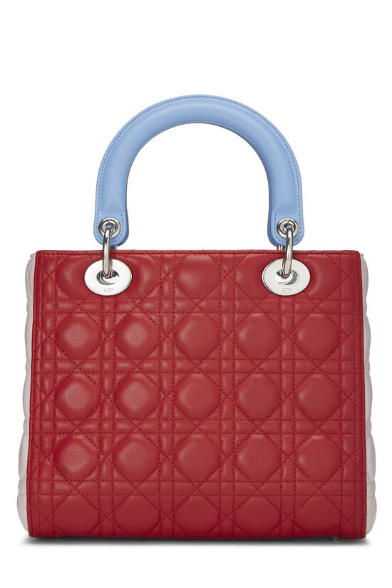 Multicolor Cannage Quilted Lambskin Lady Dior Medium, , large image number 3