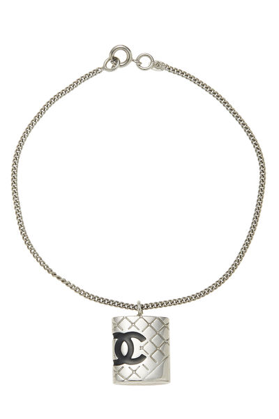 Silver Quilted Cambon Bracelet