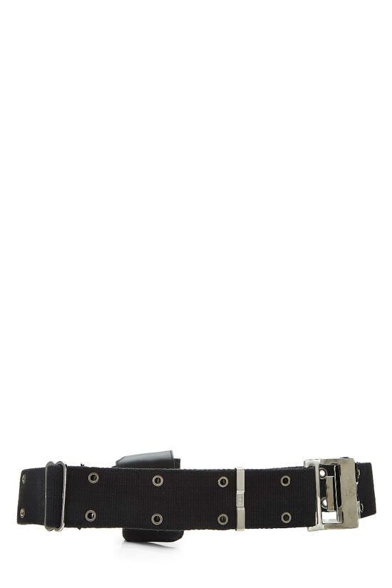 Black Oblique Canvas Belt Bag, , large image number 3