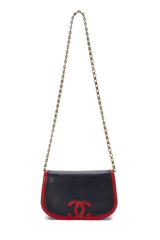 Navy & Red Lambskin 'CC' Shoulder Bag, , large image number 6