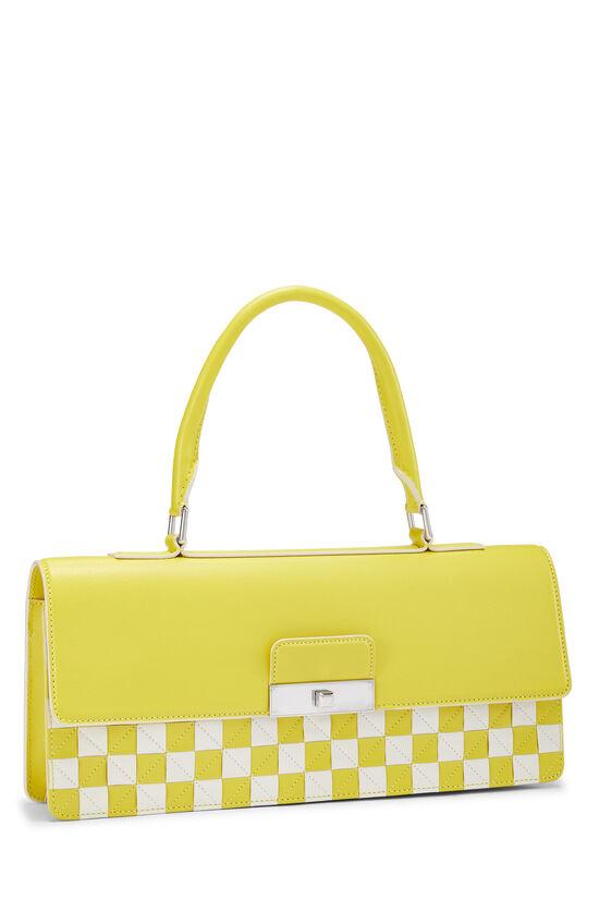 Yellow & White Damier Mosaic Envelope Clutch, , large image number 1