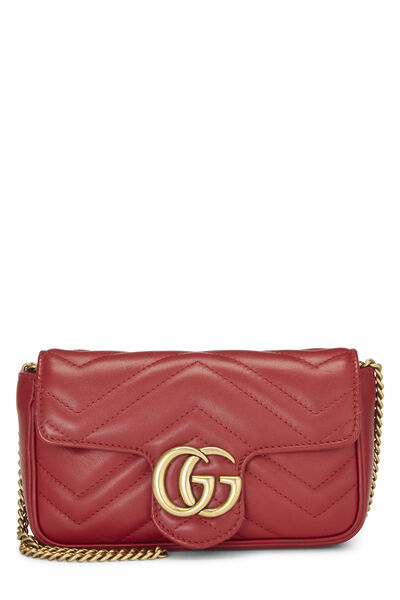 Red Leather Marmont Crossbody Extra Mini
