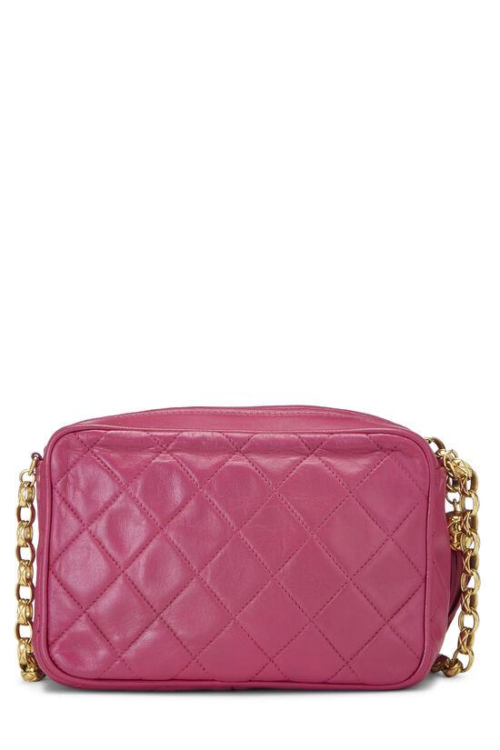 Pink Quilted Lambskin Pocket Camera Bag Mini, , large image number 4
