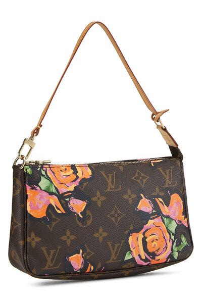 Stephen Sprouse x Louis Vuitton Monogram Roses Pochette Accessoires, , large
