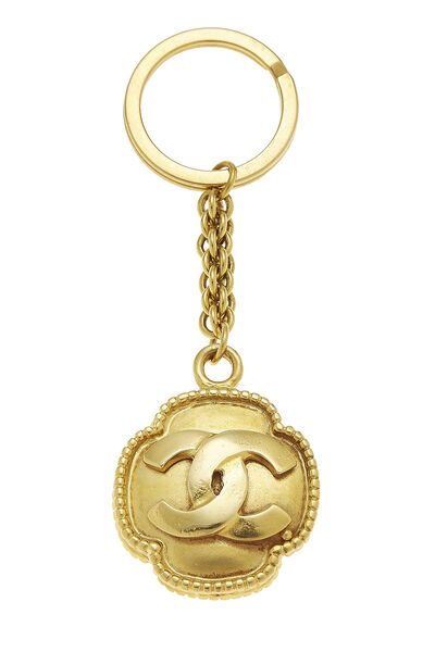 Gold Border 'CC' Keychain