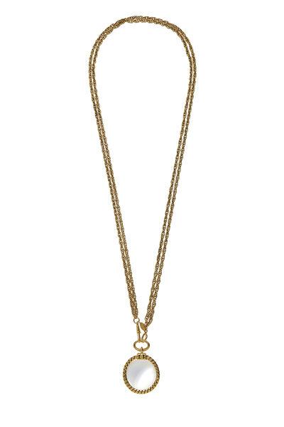 Gold Loupe Long Necklace