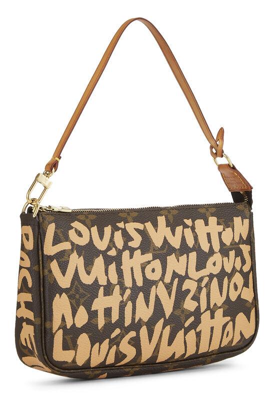 Stephen Sprouse x Louis Vuitton Beige Graffiti Pochette Accessoires, , large image number 1