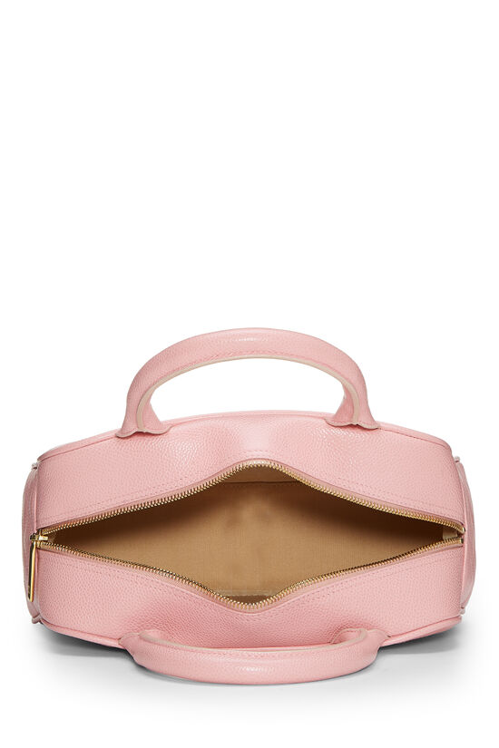 Pink Quilted Caviar Bowler Mini, , large image number 5