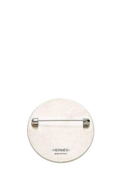 Silver & Grey Alligator Pin, , large