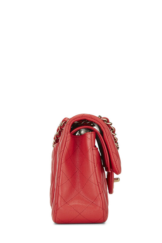 Red Quilted Caviar Classic Double Flap Small, , large image number 2