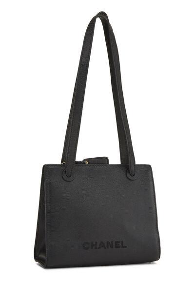 Black Caviar Shoulder Bag Small, , large