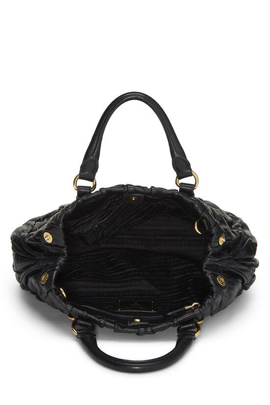 Black Nappa Gaufre Handbag, , large image number 5
