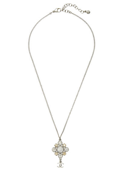 Silver & Crystal Cluster Necklace