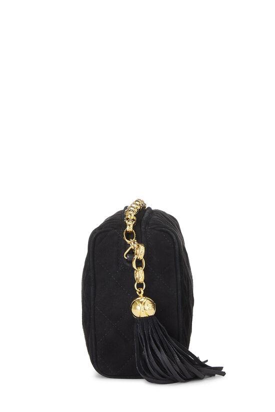Black Suede Diamond 'CC' Camera Bag Mini, , large image number 3
