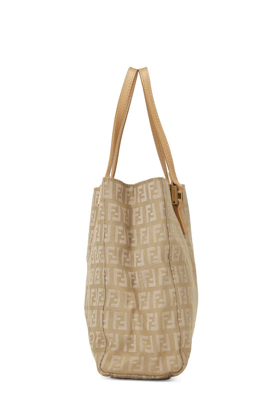 Beige Zucchino Canvas Shopping Tote Small, , large image number 2