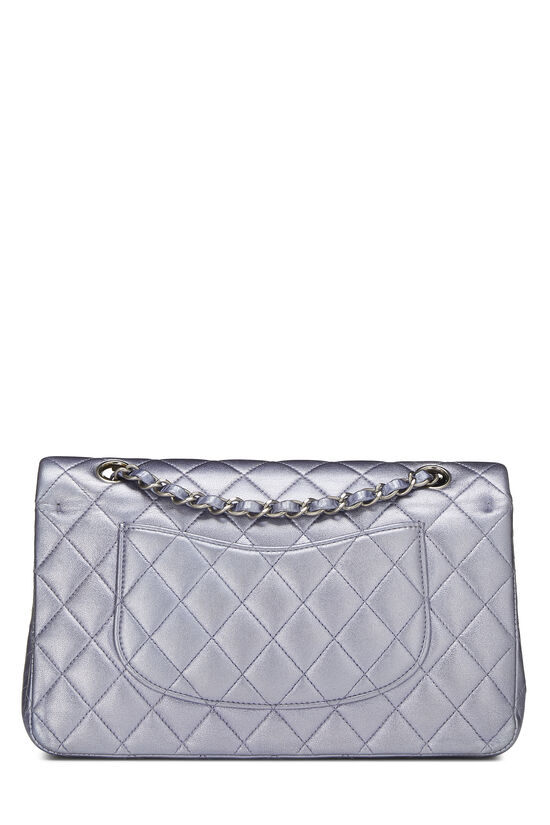Metallic Purple Quilted Lambskin Classic Double Flap Medium, , large image number 3