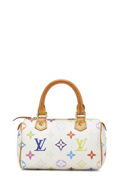 Takashi Murakami x Louis Vuitton White Monogram Multicolore HL Speedy Mini
