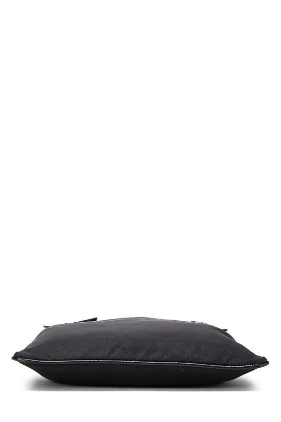 Black Nylon Messenger Bag, , large image number 1