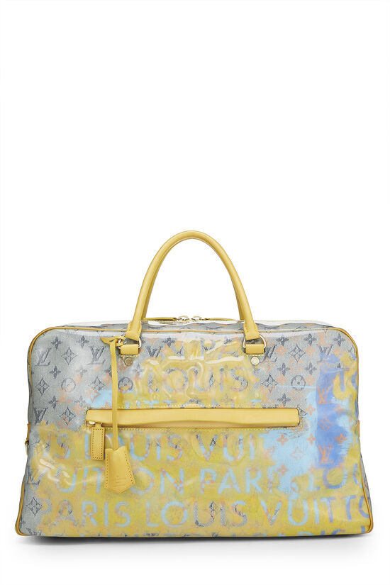 Richard Prince x Louis Vuitton Jaune Denim Pulp Weekender GM, , large image number 0