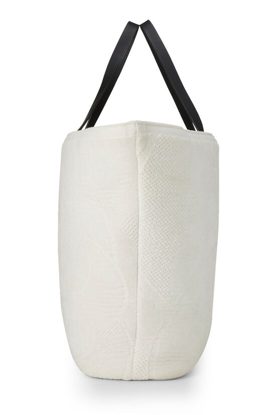 White Camellia Terry Cloth Tote XL, , large image number 2