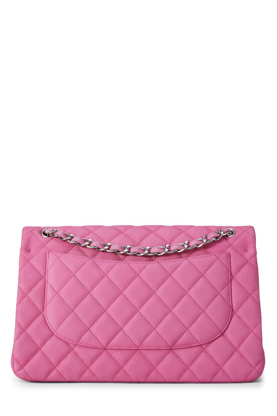 Pink Quilted Caviar New Classic Double Flap Jumbo, , large image number 3
