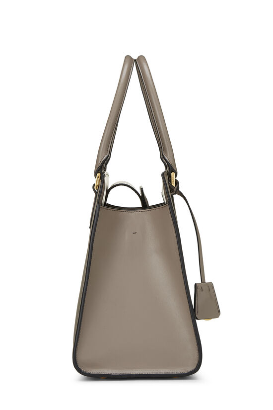 Grey Saffiano Leather Tote, , large image number 2