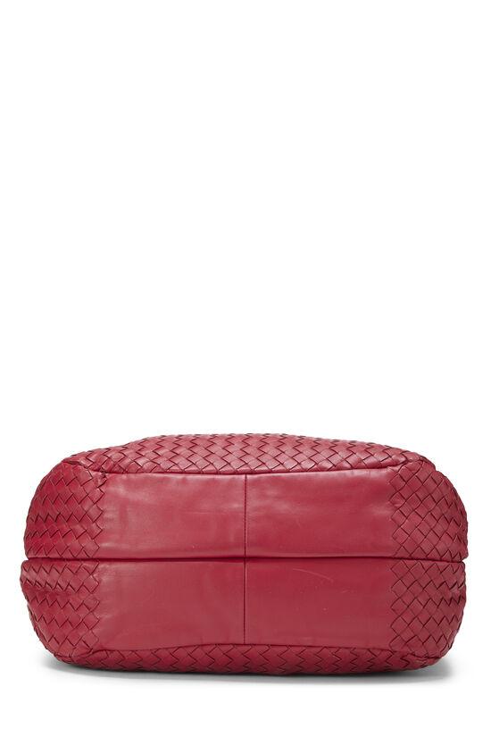 Pink Intrecciato Nappa Campana Medium, , large image number 4