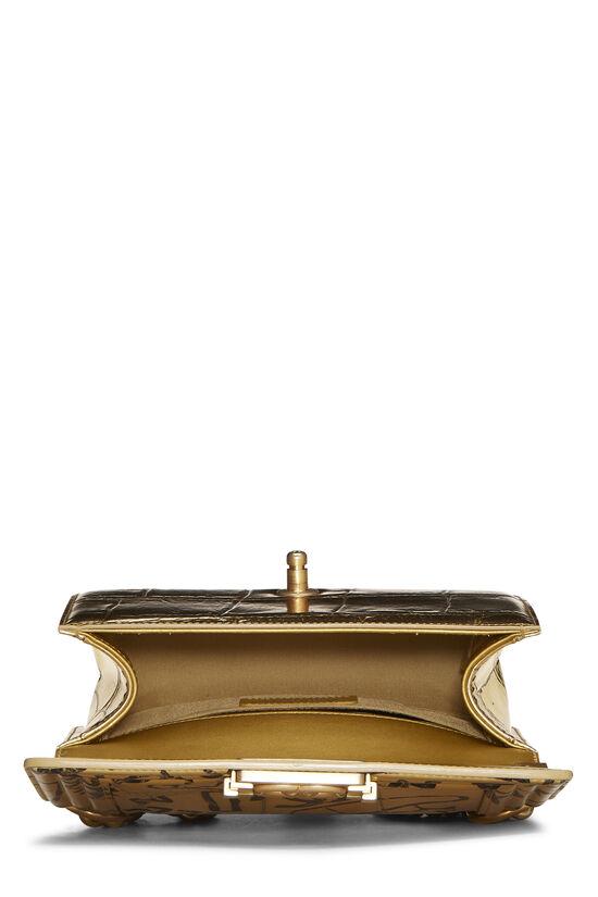 Paris-New York Gold Embossed Graffiti Boy Bag Small, , large image number 5