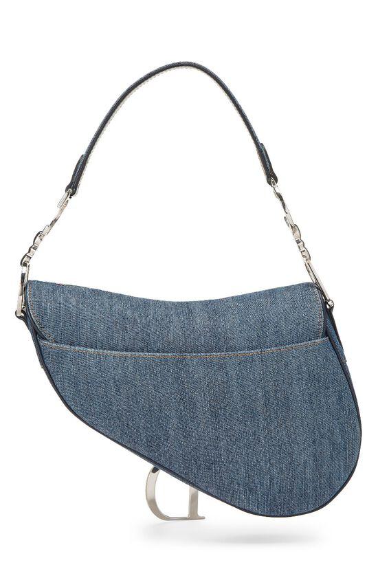 Blue Denim Floral Saddle Bag, , large image number 3