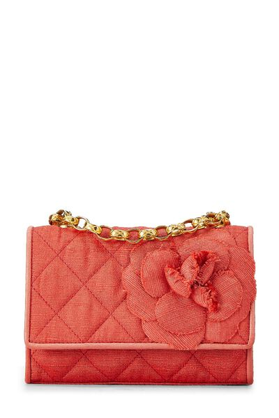 Red Quilted Flower Flap Mini, , large