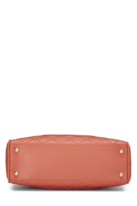Coral Quilted Caviar Bowler Mini, , large image number 4