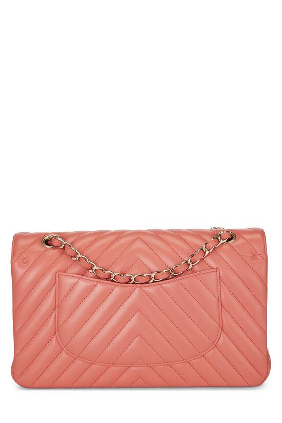 Pink Chevron Lambskin Classic Double Flap Medium, , large image number 3