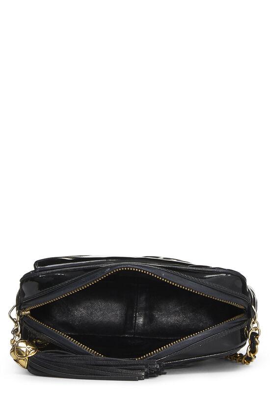 Black Quilted Patent Leather Pocket Camera Bag Mini, , large image number 5