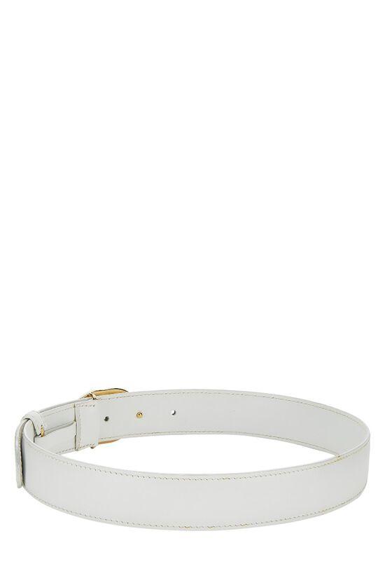 White Leather GG Belt 60, , large image number 2