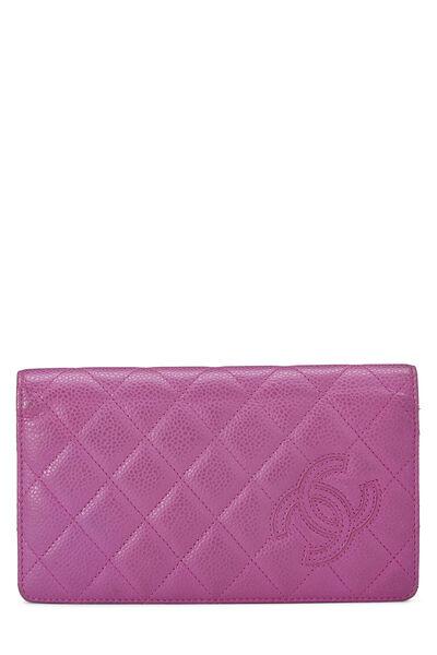 Purple Quilted Caviar Yen Wallet