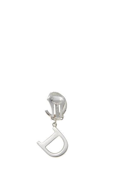Silver Logo Dangle Earrings, , large