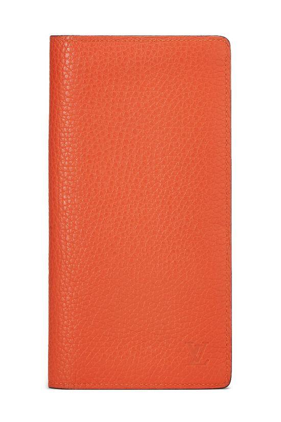 Orange Clemence Brazza Wallet, , large image number 0