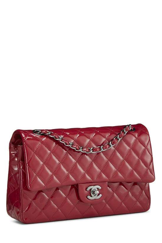 Red Quilted Patent Leather Classic Double Flap Medium, , large image number 1