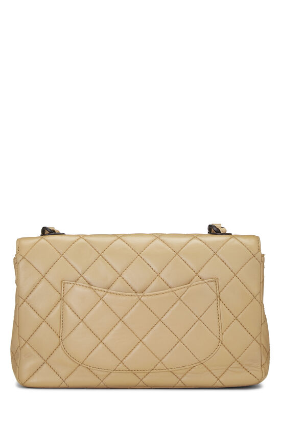 Beige Quilted Lambskin Classic Flap Medium, , large image number 4