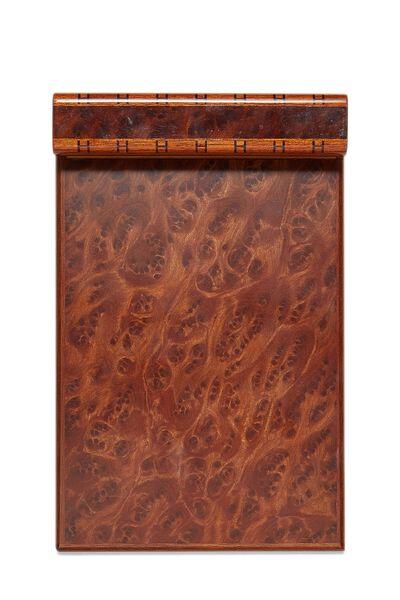 Brown Wood Paper Holder