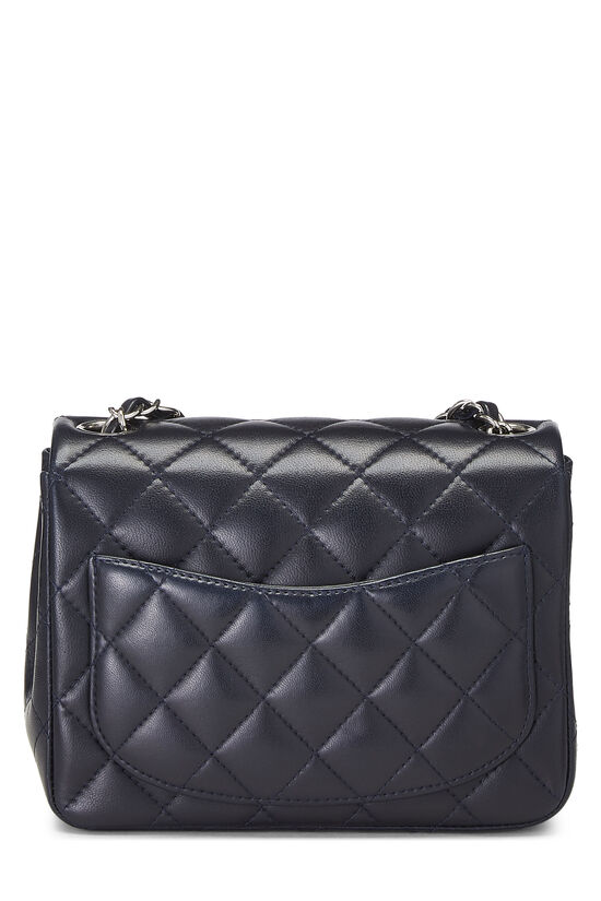 Navy Quilted Lambskin Classic Square Flap Mini, , large image number 3