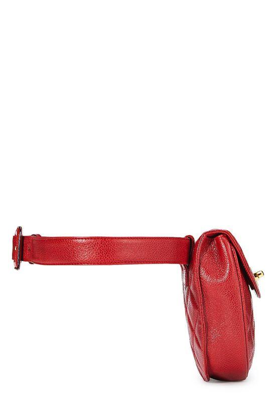Red Quilted Caviar Belt Bag 30, , large image number 2