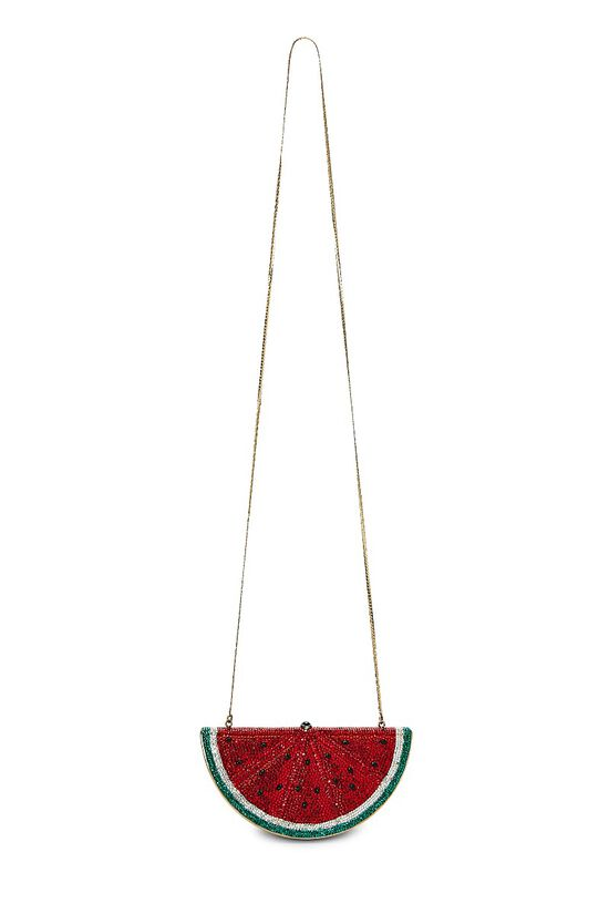 Red Crystal Watermelon Minaudiere, , large image number 6