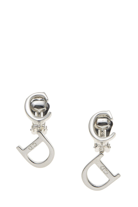 Silver Logo Dangle Earrings, , large image number 0