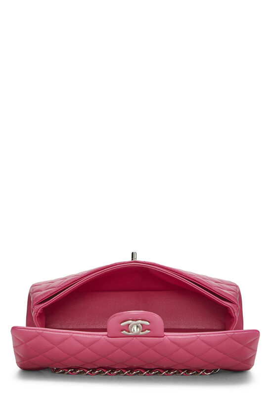 Pink Quilted Lambskin Classic Double Flap Medium, , large image number 5