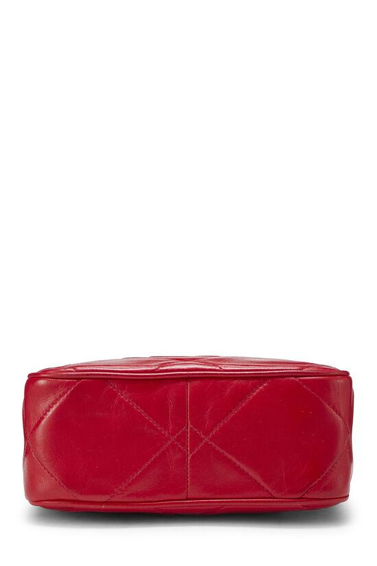 Red Lambskin Diamond 'CC' Camera Bag Mini, , large image number 4