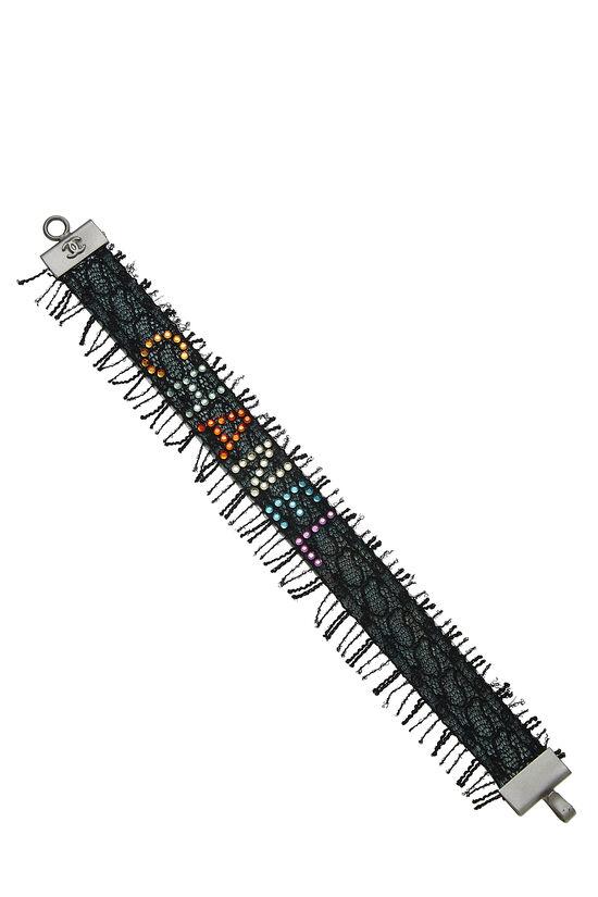 Black Lace & Multicolor Crystal Bracelet, , large image number 0