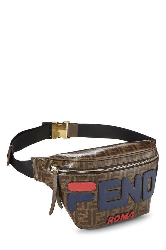 Fendi x Fila Brown Coated Zucca Spalmati Mania Belt Bag, , large image number 1